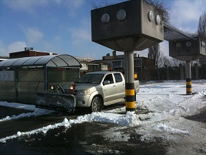 Déneigement d'un parking : pendant